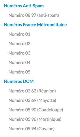 type de numéro de fax par internet