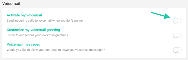 voicemail switch