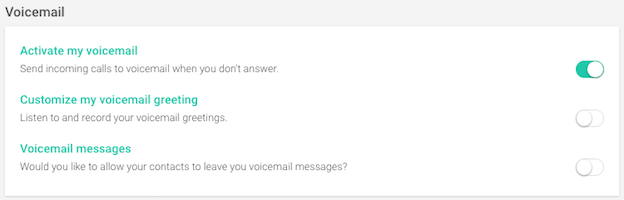 voicemail activated
