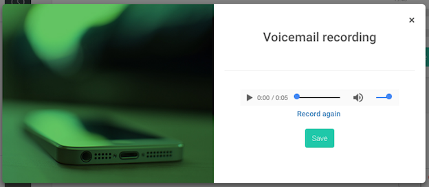 voicemail recorded