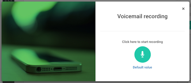 recording a personnalised voicemail