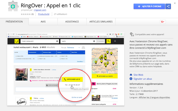 extension RingOver sur chrome