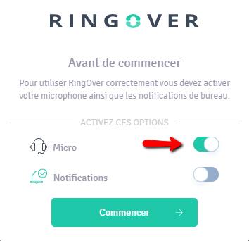activer son micro pour utiliser RingOver
