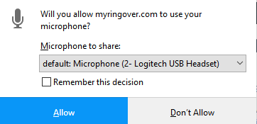 allow microphone